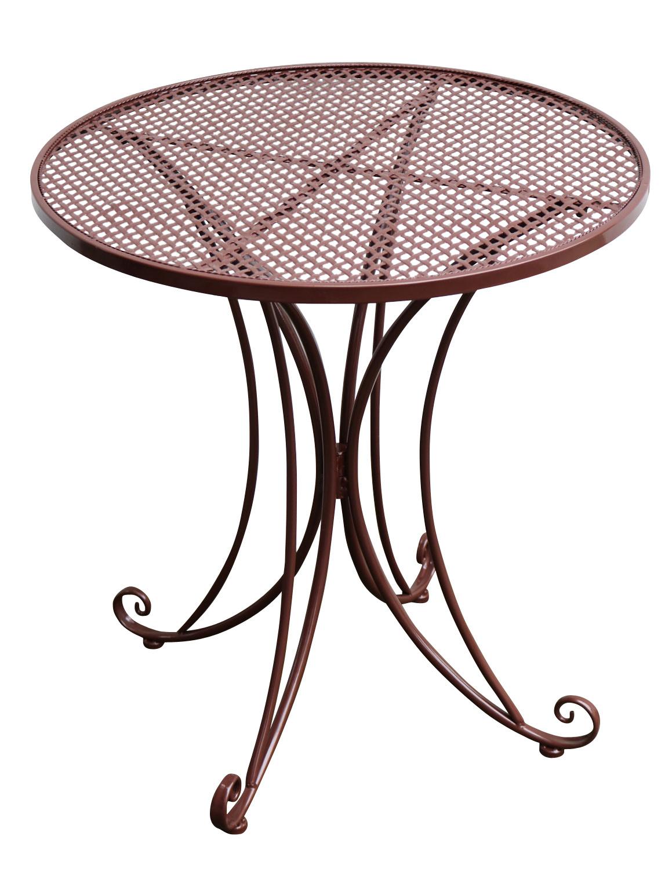 Table de jardin - métal- style antique - marron - 75cm | Aubaho