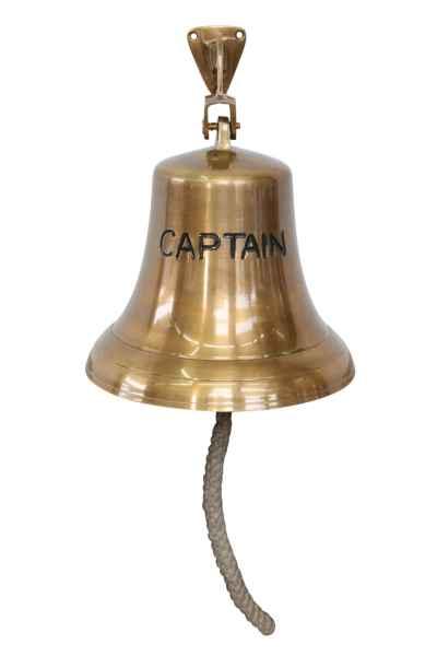 Glocke Schiffsglocke Captain Dekoration Schiff Maritim Nautik Antik-Stil Kapitän