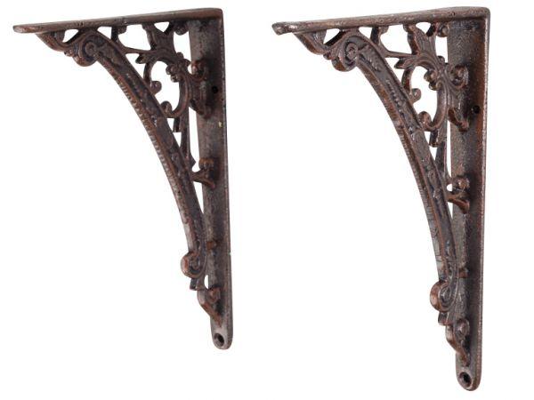 2x Regalhalter Regalstütze Regalkonsole Regal Halter antik Stil Eisen iron