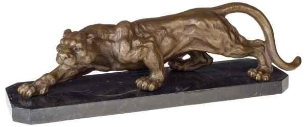 Bronzeskulptur Panther im Antik-Stil Bronze Figur Statue 65cm - 13kg