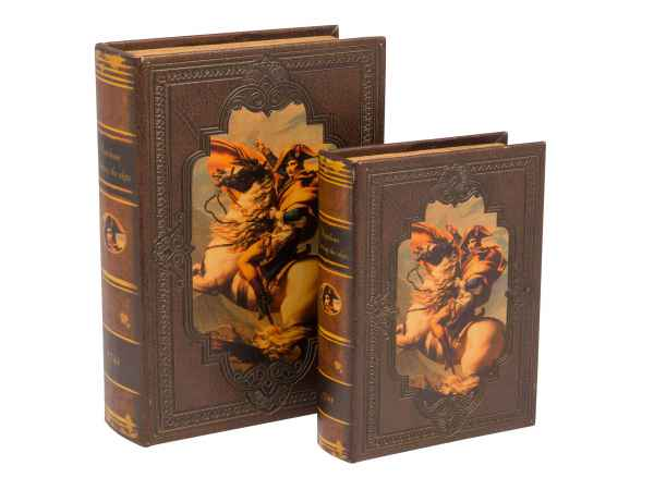 2x Schatulle Napoleon Holz Buchattrappe Box Schmucketui Buchtresor Buchsafe