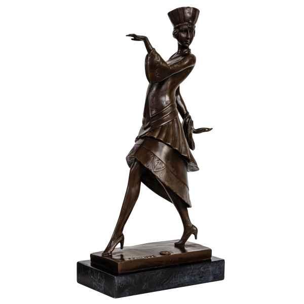 Bronzeskulptur Ägypten Antik-Stil Bronze Figur Statue nach Paul Philippe Replik
