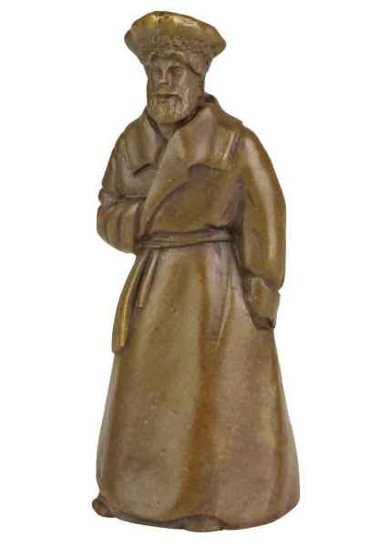 Bronzeskulptur Tischglocke Glocke Mann im Antik-Stil Bronze Figur Statue 10cm