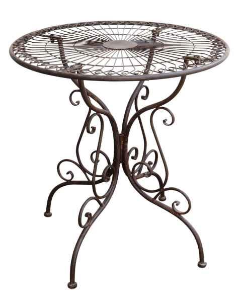 Gartentisch Nostalgie Antik Stil Gartenmöbel Metall Tisch Metall Braun