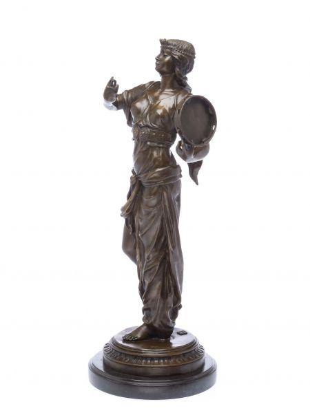 Bronzeskulptur Tänzerin Bronze Figur Orient Skulptur 54cm Sculpture dancer