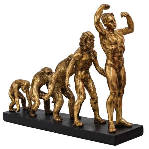 Skulptur Evolution Mann Figur Affe Steinzeit Dekoration Antik-Stil - 33cm