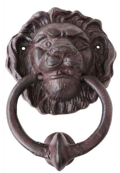 Historischer Türklopfer Löwe Türbeschlag Tür Eisen Antik-Stil