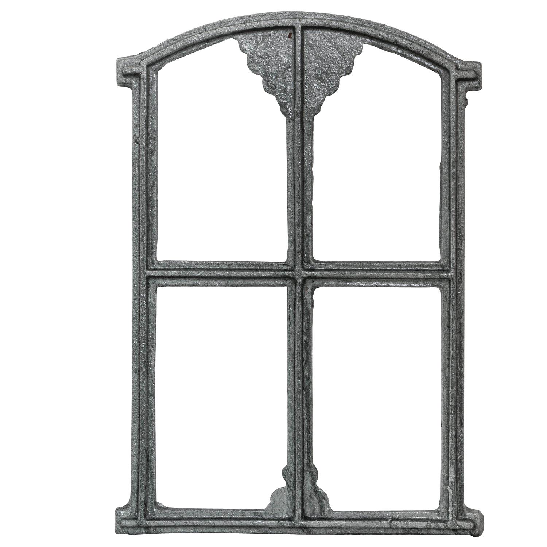 Fenêtre De Grange à Barreaux Fer Forgé Rouille Style Antique 48cm