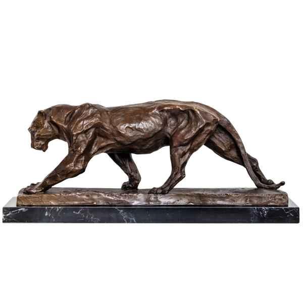 Bronzeskulptur Panther Raubkatze im Antik-Stil Bronze Figur Statue 52cm