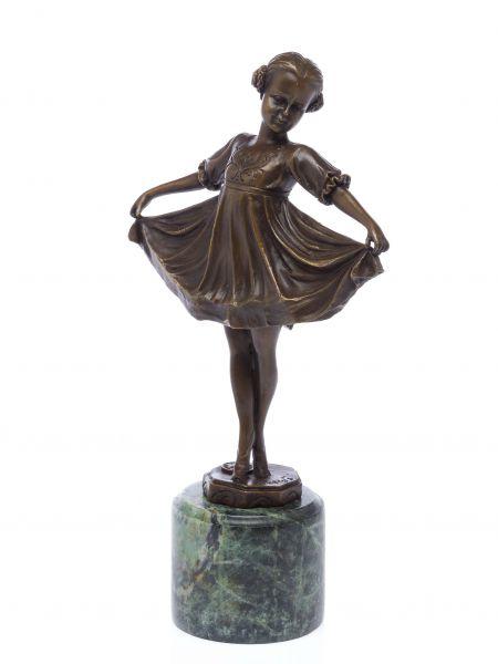 Bronze Skulptur nach Ferdinand Preiss (1882-1943) sculpture Lilli art deco style