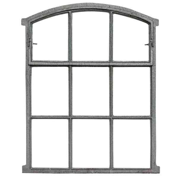 Fenster grau Stallfenster Eisenfenster Scheunenfenster Eisen 55cm Antik-Stil f