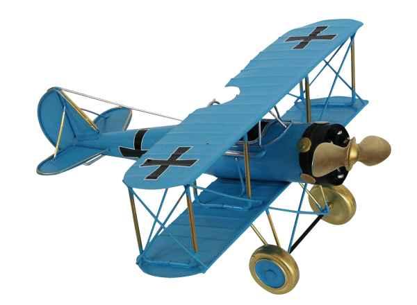 Doppeldecker Modellflugzeug Flugzeugmodell Flugzeug Metall Antik-Stil