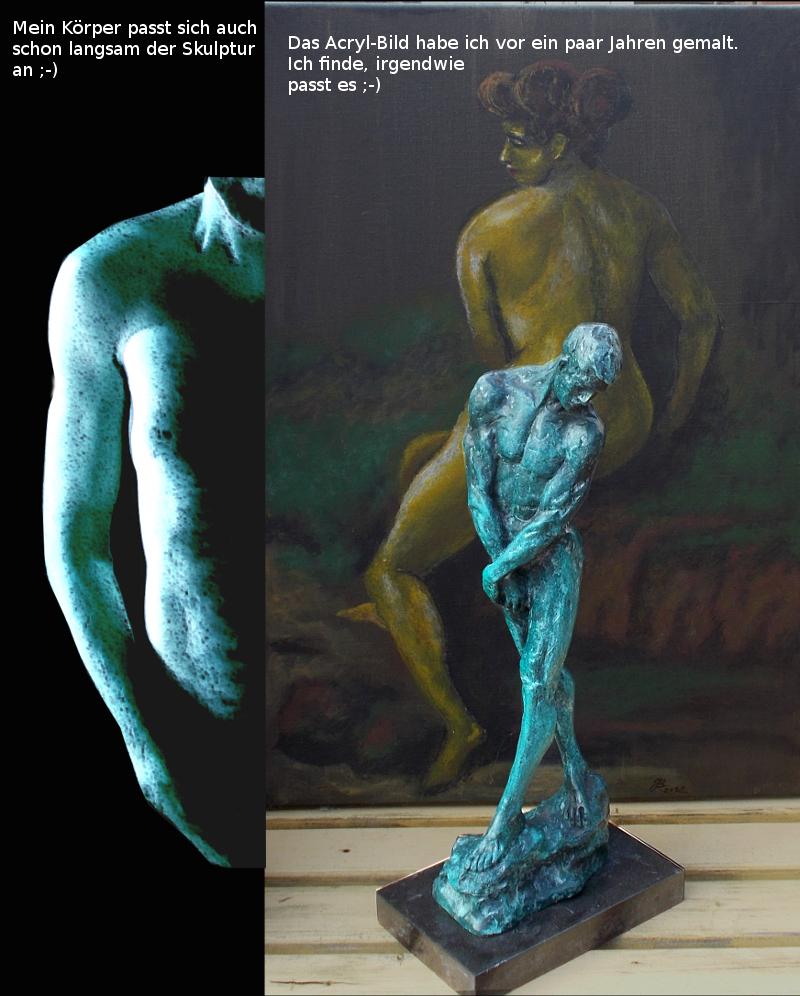 Herzlichen Dank für das außergewöhnliche Foto. Ihr Körper hat sich der Skulptur sehr gut angepasst ;-)