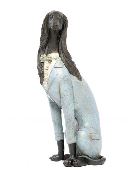 Skulptur Windhund Hund Figur 55cm Hundefigur Sakko sculpture greyhound whippet