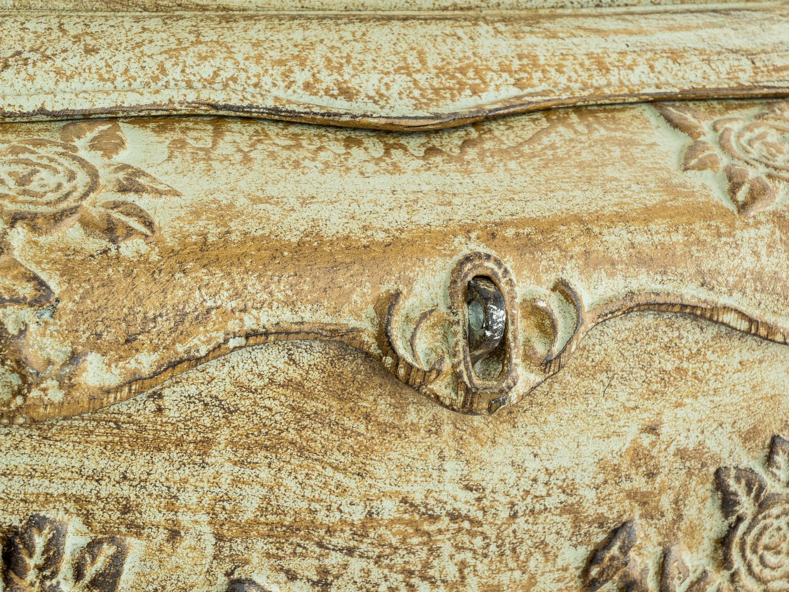 Cassetta della posta ferro parete in stile antico di ferro verde