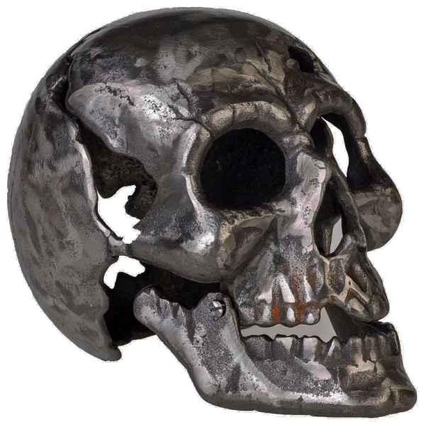 Eisenfigur Totenkopf Figur Skulptur Eisen Antik-Stil 23cm (b)