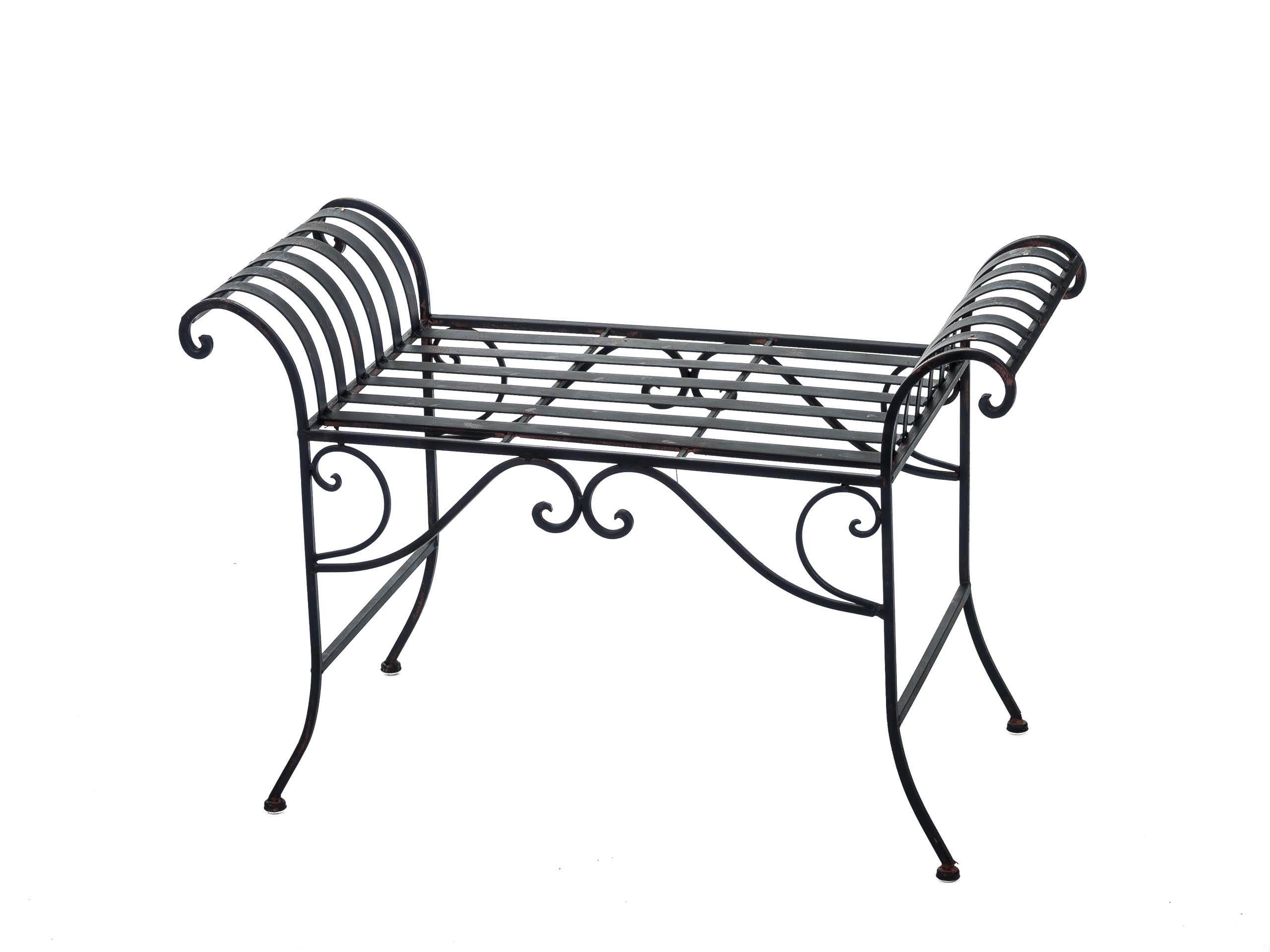 nostalgie gartenbank metall sitzbank antik stil bank hocker garden bench aubaho. Black Bedroom Furniture Sets. Home Design Ideas