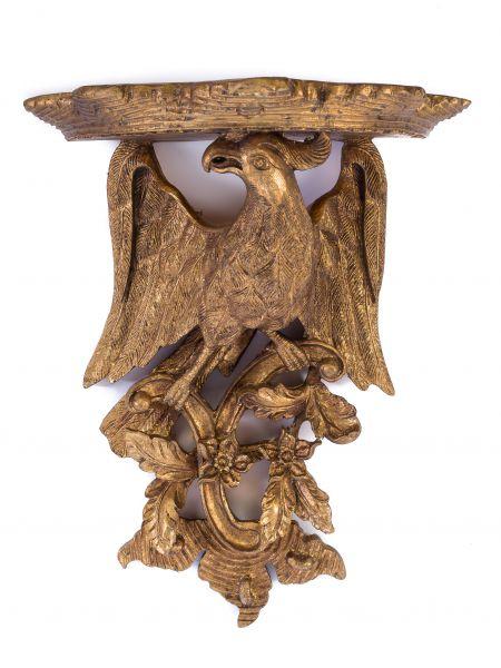 Wandregal Konsole Adler links Regal Wandkonsole Wandboard goldfarben antik Stil