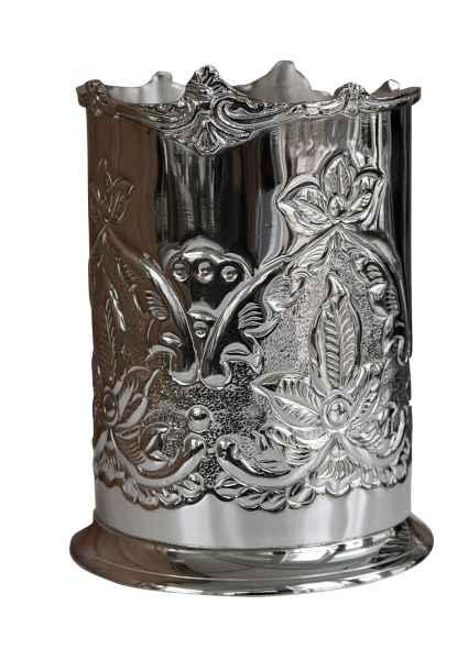 Sektkühler Flaschenkühler Weinkühler Metall Champagnerkühler Antik-Stil 17cm