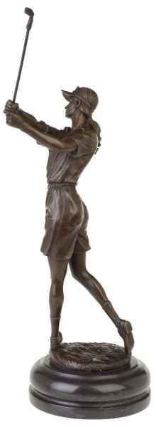 Bronzeskulptur Frau Golf im Antik-Stil Bronze Figur Statue - 42cm