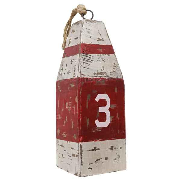 Holzboje Boje Boot Maritim Nautik Dekoration Dekoboje Antik-Stil c 33,5cm