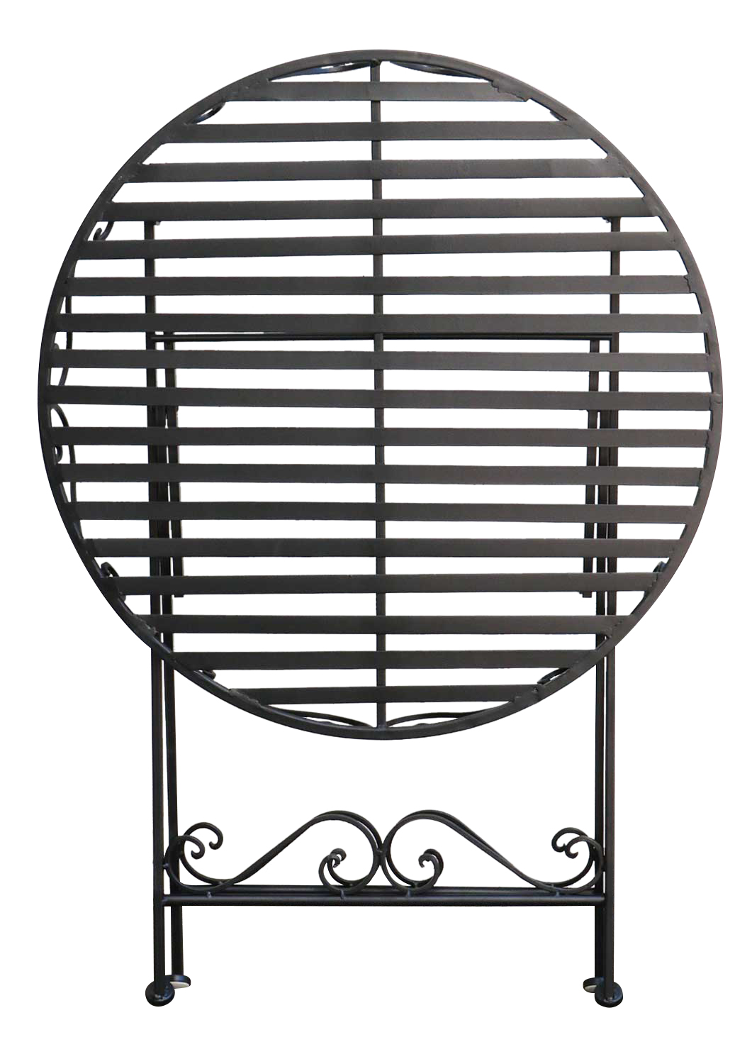 Table De Jardin Metal Style Antique Noir 74cm Aubaho