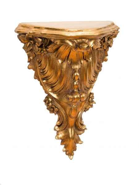 Konsole Wandkonsole Regal Wandregal Wandboard Goldfarben Barock antik Stil