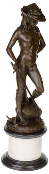 Bronzeskulptur David im Antik-Stil Bronze Figur Statue - 66cm