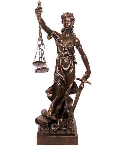 Skulptur 75cm Justitia Justizia mit Waage Figur Skulptur im Antik-Stil