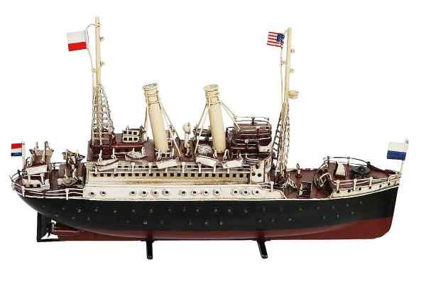 Modellschiff Schiffsmodel Schiff Maritim Dekoration Metall Blech Antik-Stil 37cm