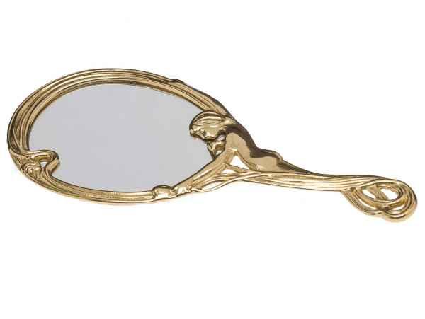 Handspiegel Dame Spiegel Kosmetikspiegel Frisierspiegel antik Stil hand mirror