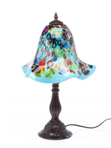 Tischlampe Lampe Glas Glasschirm im Murano Stil 53 cm glass table lamp türkis