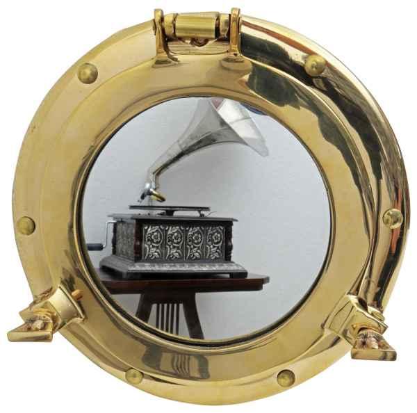 Bullauge mit Spiegel zum Öffnen Schiff Boot Maritim Dekoration Messing 20cm