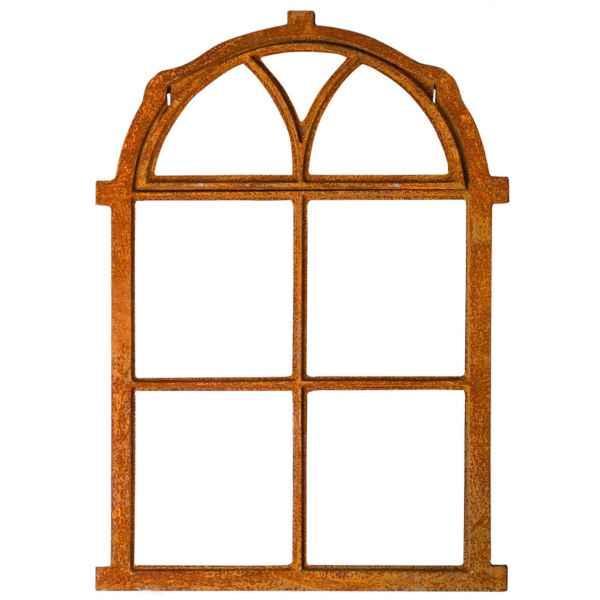 Nostalgie Stallfenster 54x77cm Klappe Fenster Gusseisen Rahmen rostig Antik-Stil