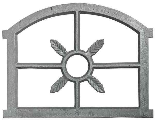 Fenster grau Stallfenster Eisenfenster Scheunenfenster Eisen 73cm Antik-Stil (r)