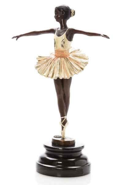 Bronze Skulptur Ballett Tänzerin Ballerina dancer antik stil sculpture figure
