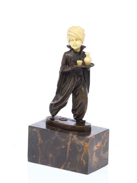 Bronze Skulptur nach Ferdinand Preiss Orient Buttler Butler oriental waiter