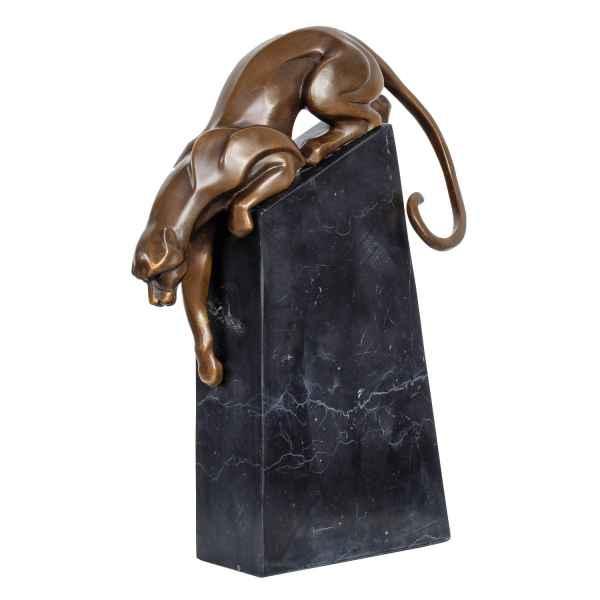 Bronzeskulptur Panther im Antik-Stil Bronze Figur Skulptur Statue 34cm