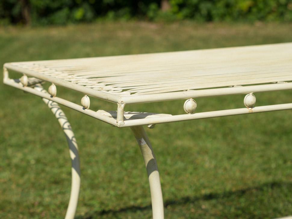 Nostalgie crème de table de jardin blanc table de salon de table en ...