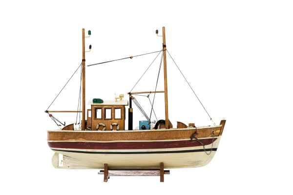 Kutter Fischerboot Fischkutter Holzschiff Schiff Boot Schiffsmodell 45cm Modell