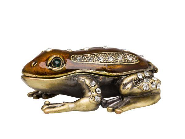Schmuckschatulle Frosch Pillendose Schmuckdose Dose Pillenbox jewelry box