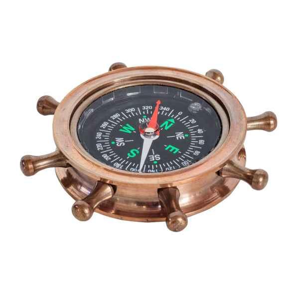 Flüssigkeit Kompass Steuerrad Maritim Dekoration Navigation Antik-Stil (c)