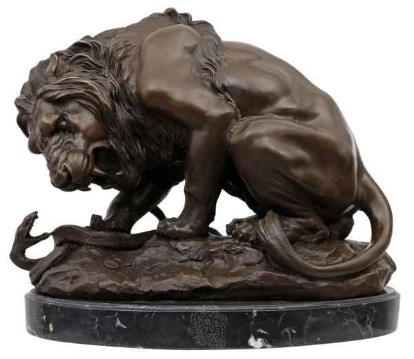 Skulptur >>löwe<< In Bronze Masiv Attractive Appearance Metallobjekte Bronze