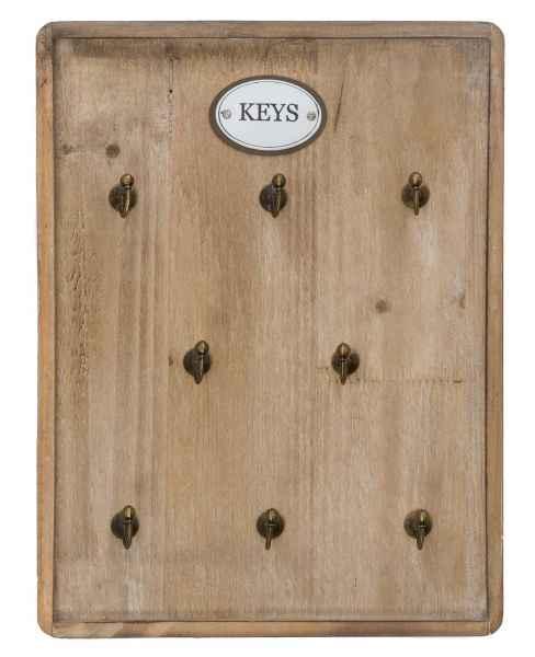 Schlüsselbrett im antik Stil Schlüsselkasten keyholder Landhaus Shabby chic Holz