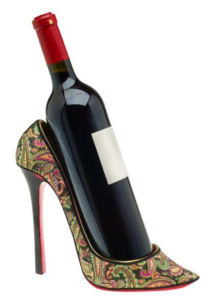Flaschenhalter Damenschuh Schuh High Heel Wein Sekt Weinflaschenhalter Pump