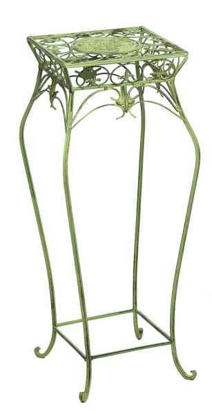 Blumenhocker 55cm Blumentisch Blumenständer Garten grün Eisen Blumensäule