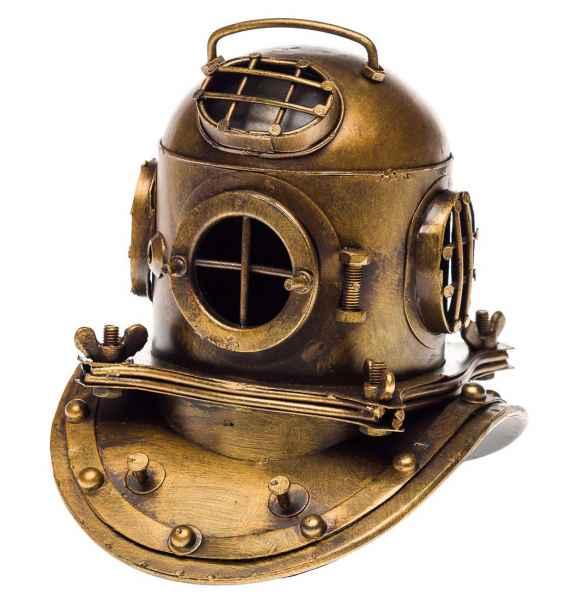 Taucherhelm Marine 18cm Tiefsee Taucherglocke Dekoration Helm Antik-Stil