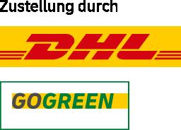 ZustellungDurch_DHL_GoGreen_webshop_logo_mit_zusatz