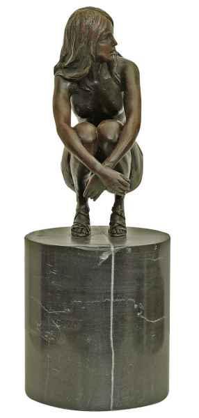 Bronzeskulptur Erotik erotische Kunst Frau Antik-Stil Bronze Figur Statue 27cm