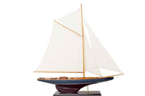 Segelyacht Modellschiff Yacht Holz Schiff Boot Segelschiff Schiffsmodell H:109cm
